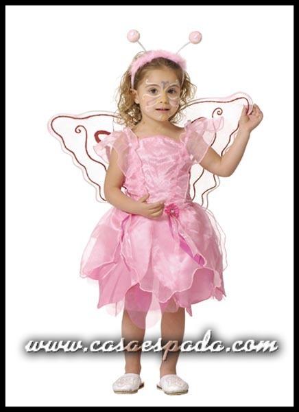 disfraz mariposa rosa bebe