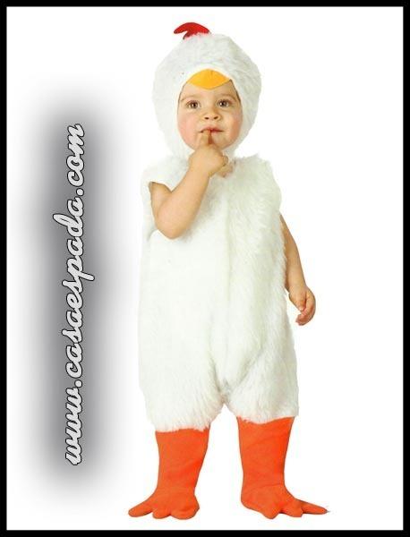 disfraz pollito bebe gallina blanco