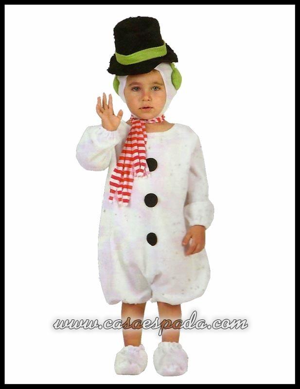disfraz mueco nieve bebe