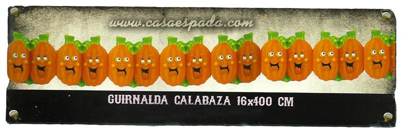 Guirnalda calabaza doble halloween colores gui