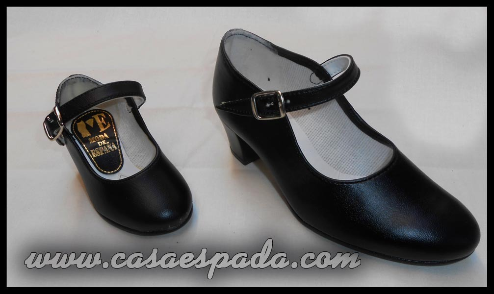 Zapatos flamenco negros